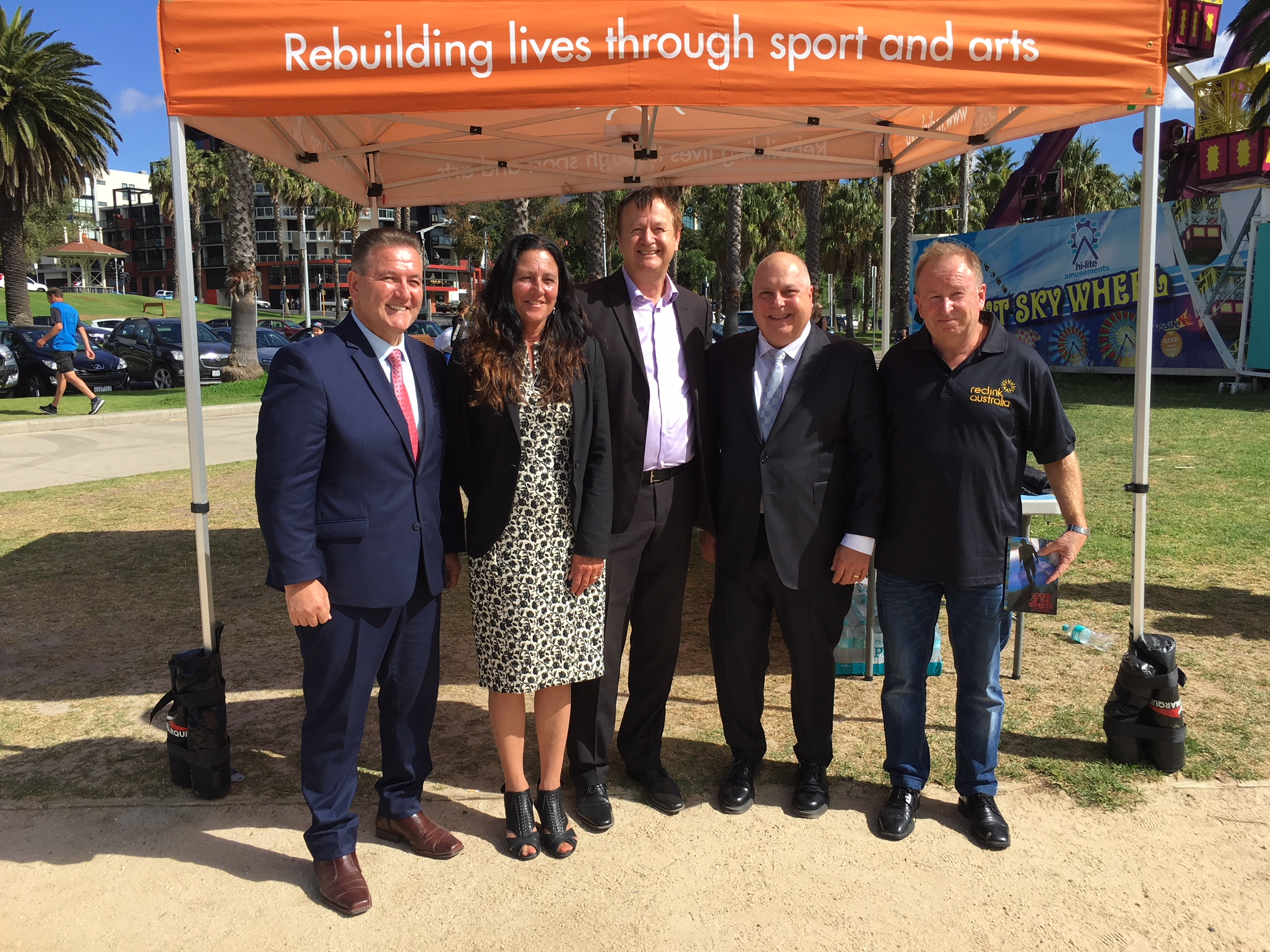 John Eren MP, Tim Pallas MP, Christine Couzens MP, Peter Cullen Reclink Founder & John Ballis Reclink CEO