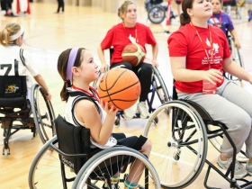 kids in wheelchairs playing sport